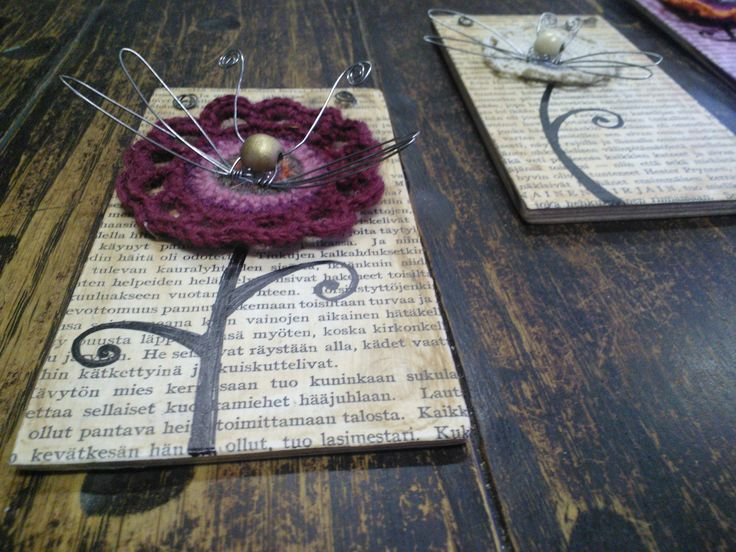 pages, flyes, crocheting...