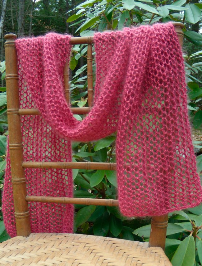 Honeycomb Knit Scarf Pattern