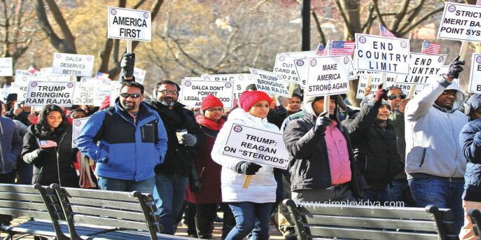 Indians Rally On Green Card Backlog Clearance Green Cards Cards Rally
