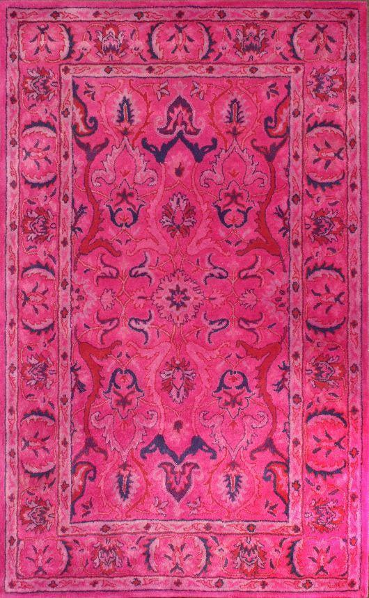 Hot Pink Overdyed Persian Rug