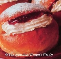 Cream Buns. A classic school lunch dessert!