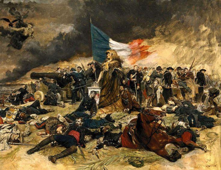 - Le siège de Paris en 1870 - Tableau de Jean-Louis-Ernest Meissonier - Trouvé sur le net