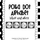 I love polka dots and can't seem to get enough! I love how they just pop on a black design.  You will receive each letter of the alphabet in the de...