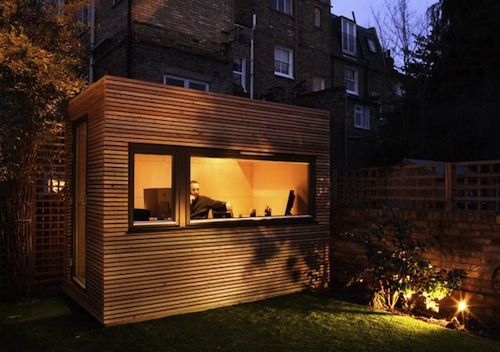 backyard offices that allow people to get away from the house without really getting away and save the hassles of dealing with traffic, commuting costs, or space rentals.
