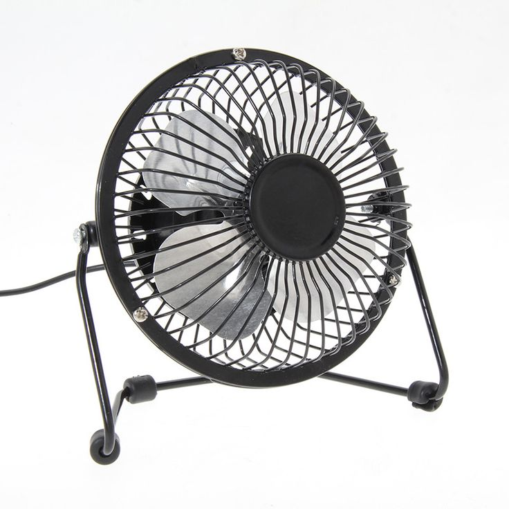 Portable Small Desk Fan Mini Usb Fans For Pclaptopnotebook Metal 4 Inch 3 Color