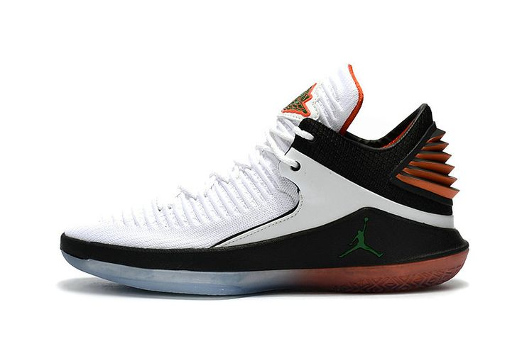2018 Official Air Jordan 32 Low Gatorade White Pine Green-Black AA1256-100  Size