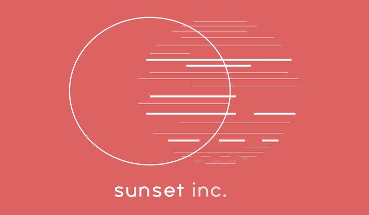 Created using Illustrator #SunSetIncLogo