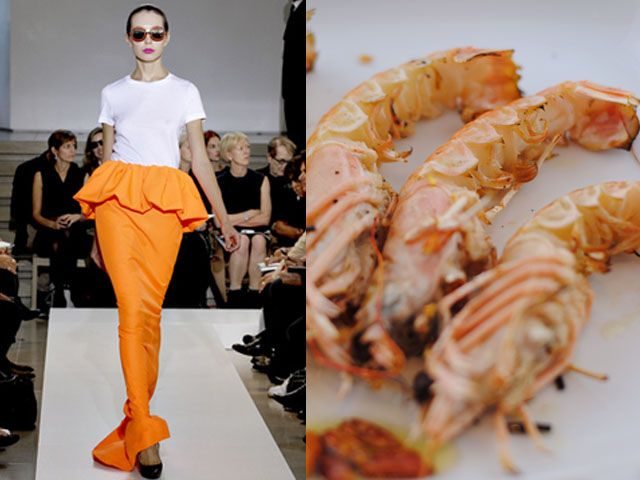Jil Sanders ss 2011 / Marinated grilled prawns
