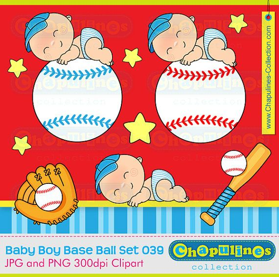 Baby boy  Baseball  Clipart digital images by ChapulinesCollection