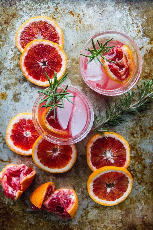 Blood Orange Rosemary Screwdriver