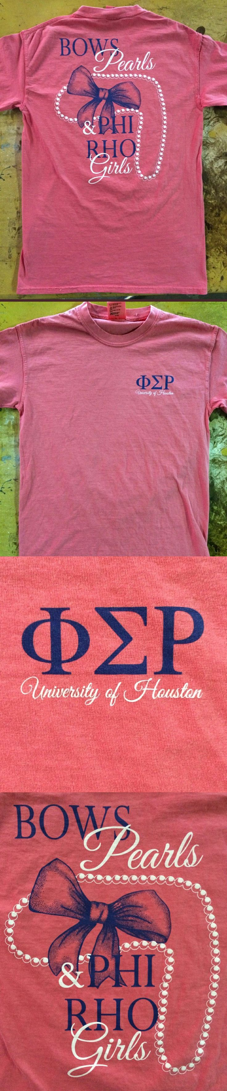 Spring 2014 Semester shirt from the Phi Sigma Rho Upsilon Chapter in the University of Houston