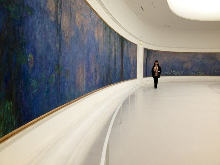 Musee de l'Orangerie. The full Monet Water Lillies panels.  Seasons....Trees....Two levels.  Do not miss the other level!!!