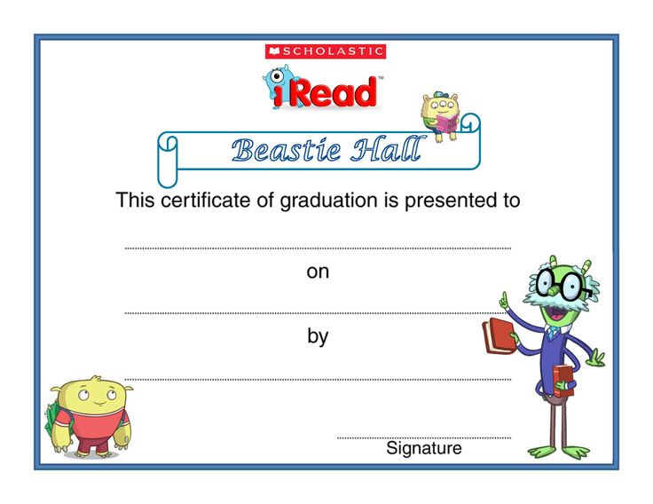 21 best Scholastic iRead K-2 images on Pinterest Celebration - congratulations certificate