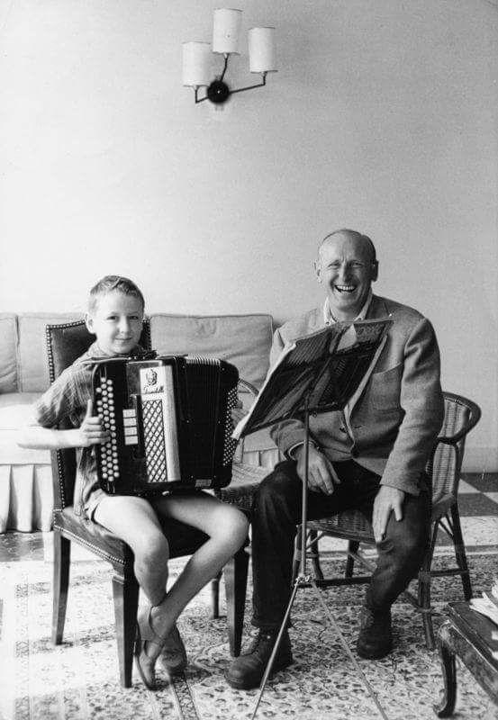 Bourvil et son fils Dominique