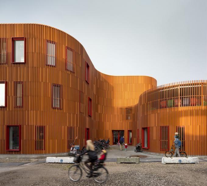 Jardín de infancia por COBE. Fotografía © Rasmus Hjortshøj. Señala encima de la imagen para verla más grande.