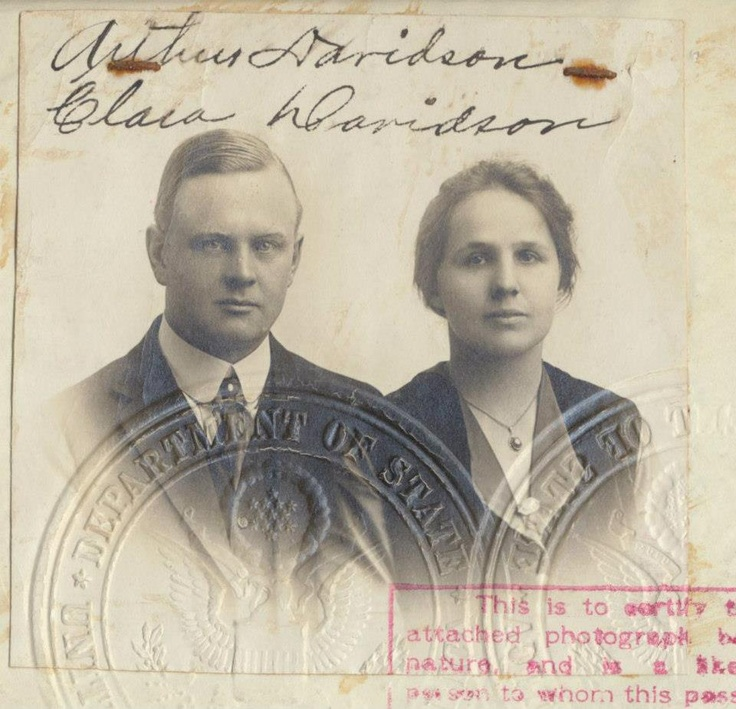 H.D. co founder Arthur Davidson and his wife Clara