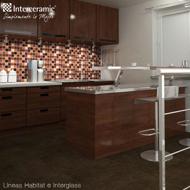 puedes utilizar azulejos para crear contrastes dentro de tu cocina para no crear