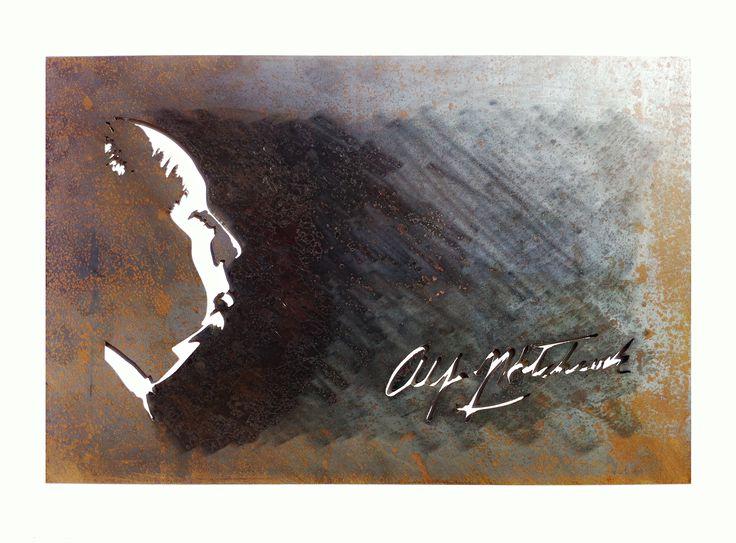 Cuadro, retrato, Alfred Hitchcock