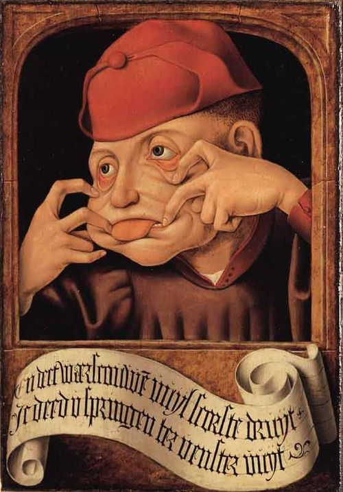 Anonymous Flemish artist, Satirical Diptych, early 16th century, oil on panel. Université de Liège