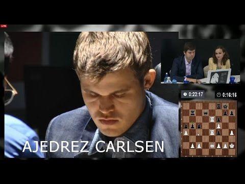 AJEDREZ - Campeonato mundial Ajedrez 2014 (SEGUNDA PARTIDA) Carlsen Anan...