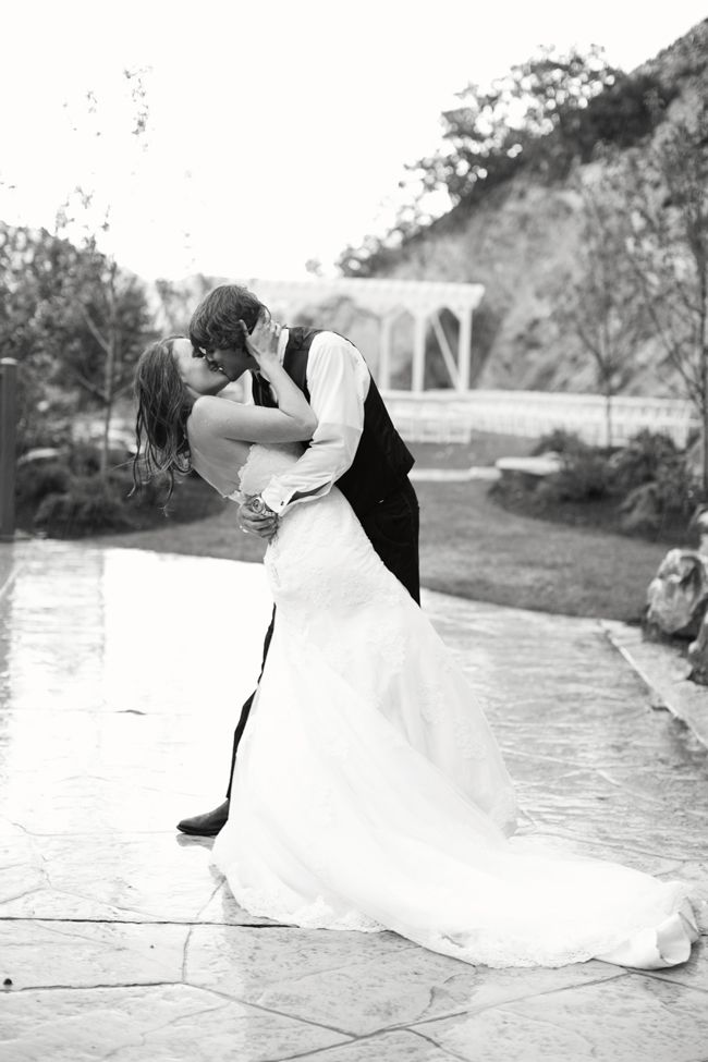 What Could Be Better Than A Kiss In The Rain On Your Wedding Day
