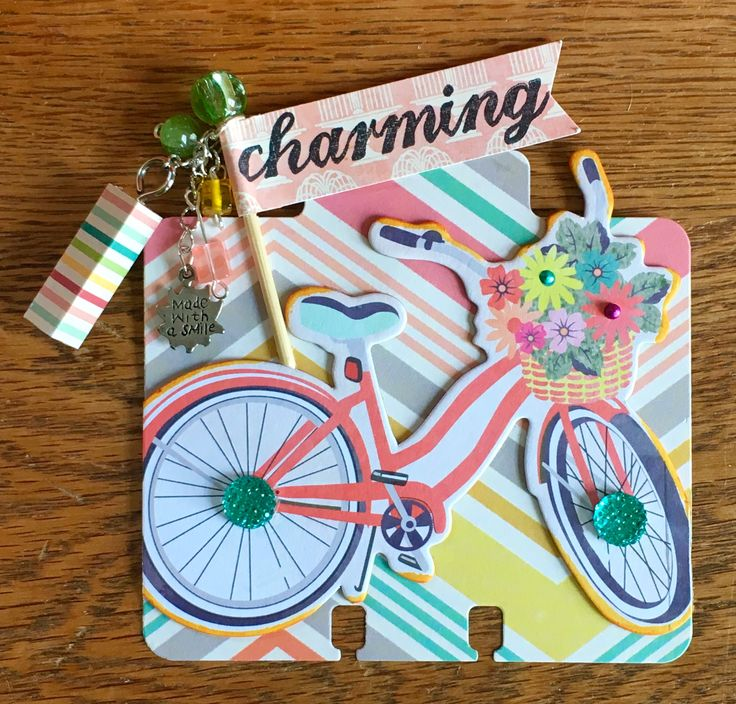 Bicycle Charm Rolodex Memorydex Card by Jackie Benedict