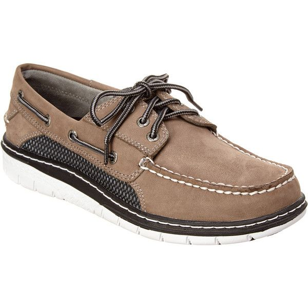 Sperry Men's Billfish Ultralight Leather Boat Shoe (210 BRL) ❤ liked on Polyvore featuring men's fashion, men's shoes, grey, mens boat shoes, mens sperry topsiders, mens deck shoes, mens leather shoes and mens rubber sole shoes