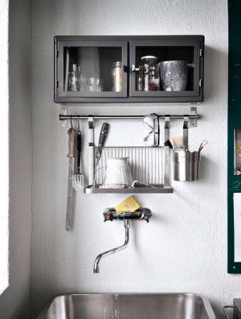 grundtal abtropfgestell befestigt an einer stange dar ber. Black Bedroom Furniture Sets. Home Design Ideas