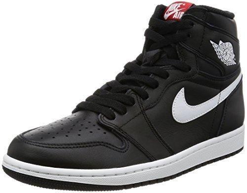 Nike Jordan Men's Air Jordan 1 Retro High OG Black/White/Black Basketball  Shoe