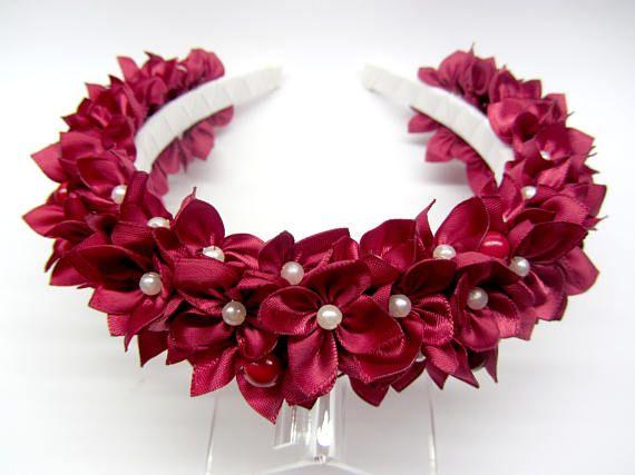 Floral crown Red hair crown Red wedding crown Bridal crown