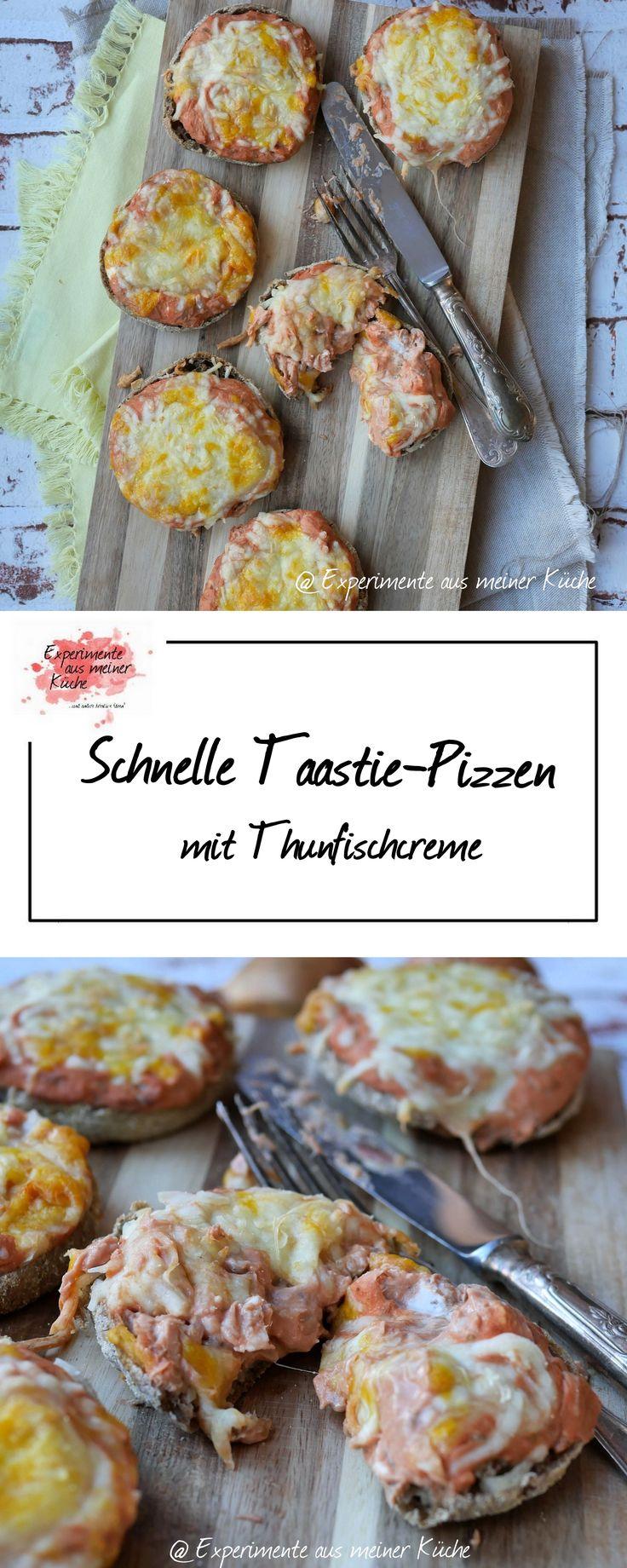 Experimente aus meiner Küche: Schnelle Toastie-Pizzen mit Thunfischcreme