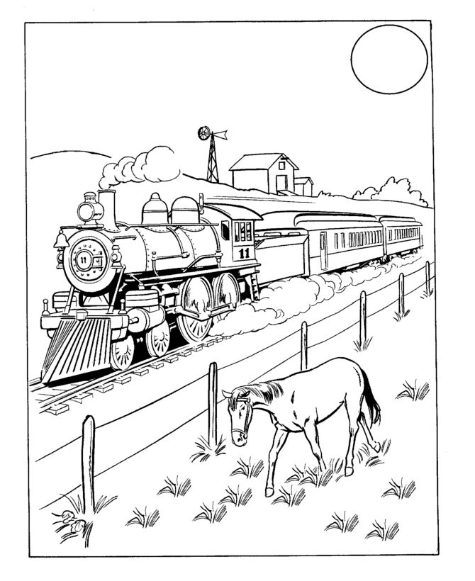 Wild West Coloring Pages 5 Train Coloring Pages Train Drawing Coloring Pages To Print