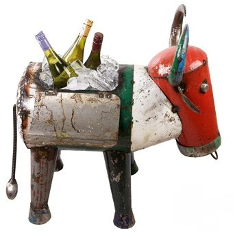 Bruce the Bull Recycled Steel Cooler