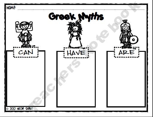 45 best 4th grade mythology images on pinterest greek mythology mrs shelbys 4th grade shop teachers notebook fandeluxe Gallery
