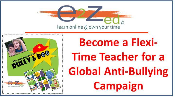 Flexi-time Job, Part-time Employment, Teaching Jobs, Anti-Bullying Campaign, Ambassador for Anti-Bullying Campaign, Teacher, Love Teaching, Extra Income