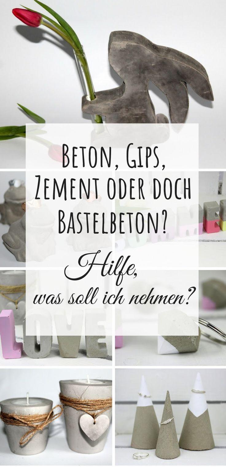 Beton, Gips, Zement oder Bastelbeton? Hilfe, was soll ich zum Basteln verwenden? (+Vor- und Nachteile) – Karin Langenmaier
