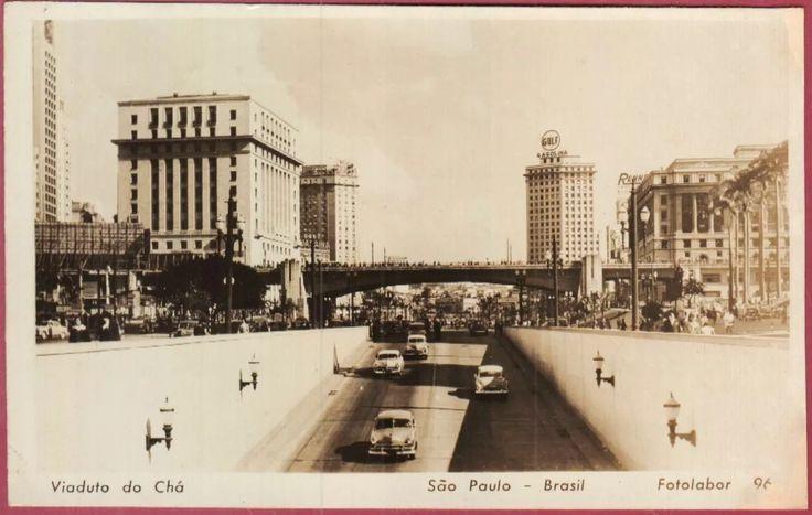 Cartão Postal Antigo São Paulo Viaduto Do Chá - R$ 25,00 em Mercado Livre