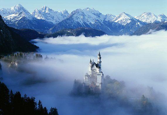 Neuschwanstein Castle , Bavaria , Germany  It is the typical fairytale castle