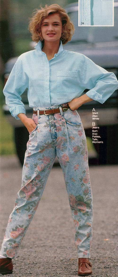 Women's fashion in the 1990's changed quite a bit. Some women would wear rompers which is a one piece outfit, or they would wear high-waisted pants with their shirt tucked in.
