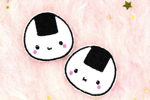 Kawaii Onigiri Hair Clips / Best Stocking Stuffers / Girls