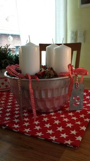 """Advent """"wreath"""" - I like the security of the bowl"""