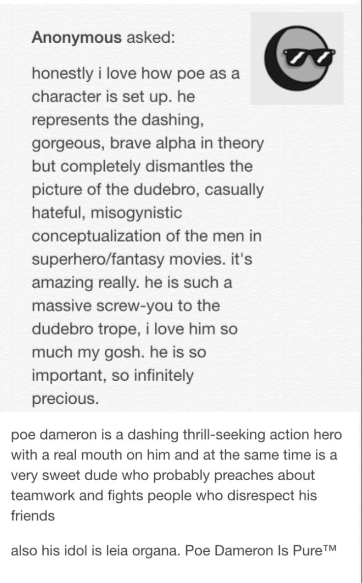 Poe Dameron is everything you could want a hero to be