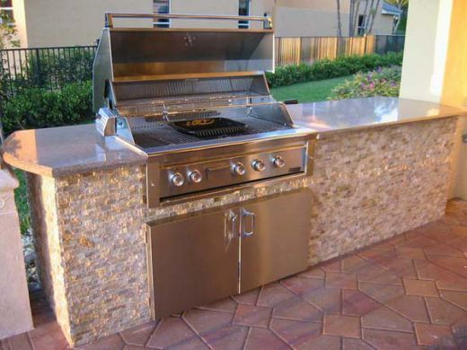 Outdoor Kitchen Equipment 40 Stainless Steel 5 Burner Gas Built In Grill By Steele Model S Built In Grill Outdoor Kitchen Appliances Outdoor Kitchen