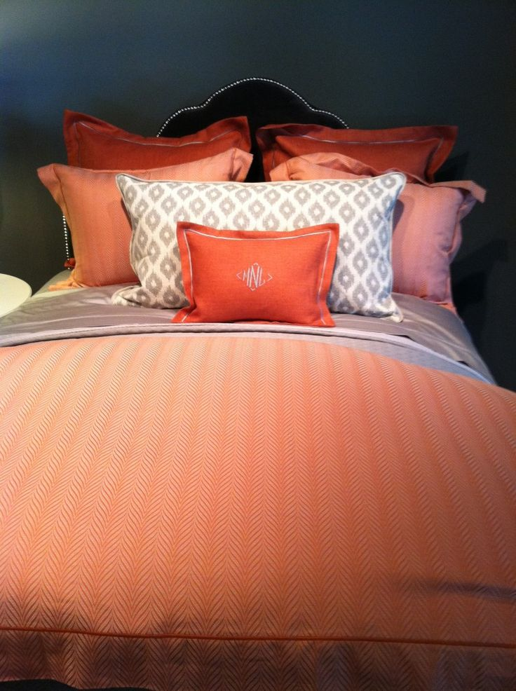 peach and grey bedding. Black Bedroom Furniture Sets. Home Design Ideas
