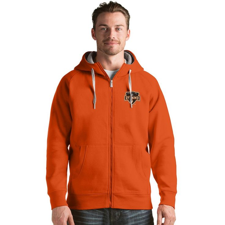 Men's Antigua Houston Dynamo Victory Full-Zip Hoodie, Size: Medium, Other Clrs