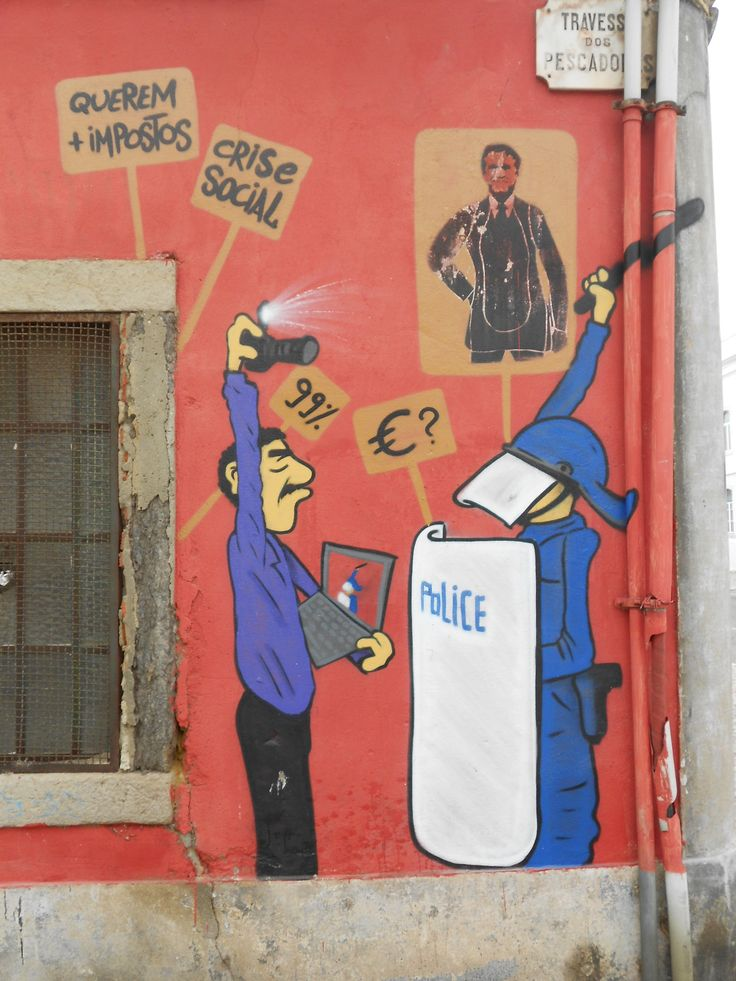 Weird intervention graffiti