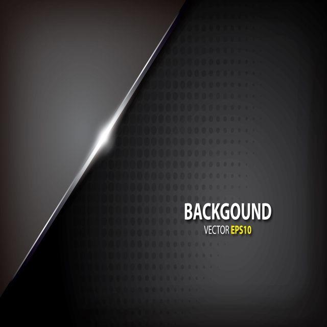 Creative Metallic Gray Innovation Concept Black Background Vector