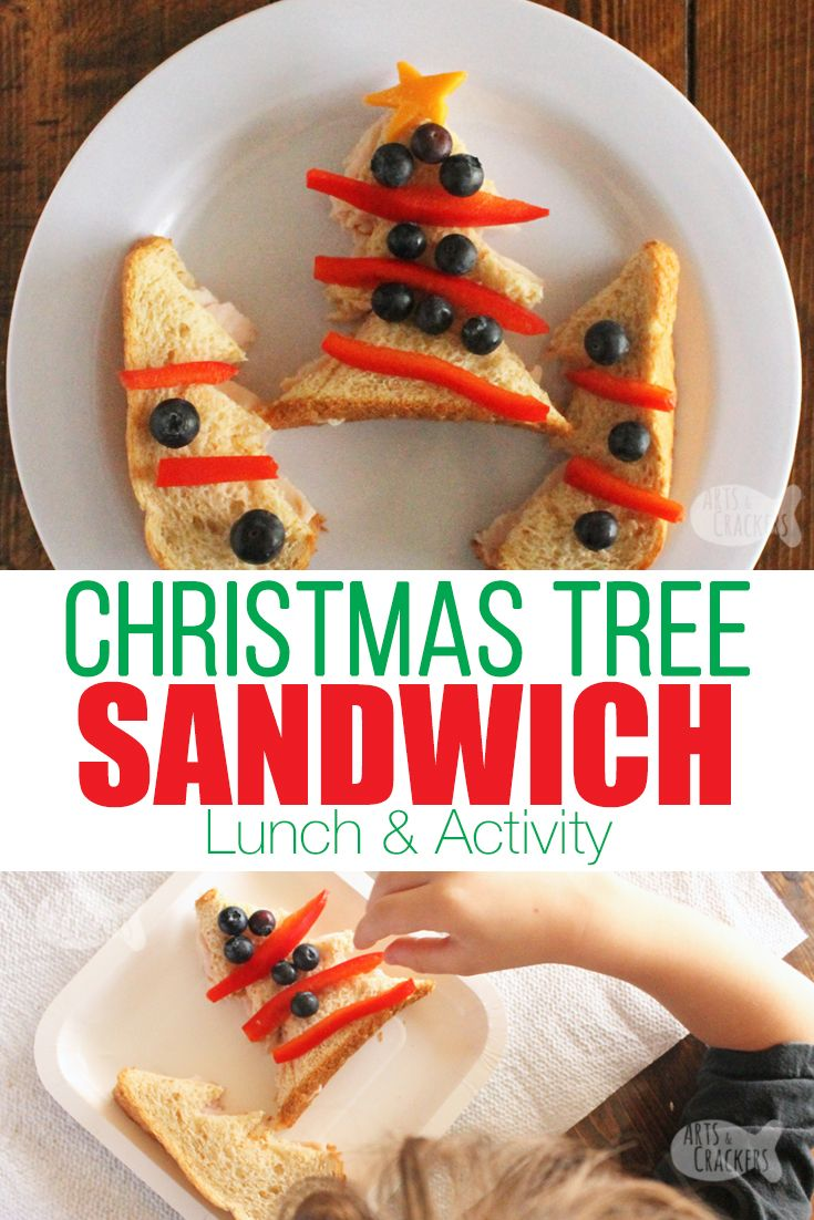 Cute Christmas Tree Sandwich Arts Crackers On The Blog Pinterest Christmas Trees For Kids Christmas Lunch And Educational Activities For Kids