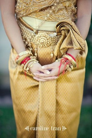 Traditional Cambodian wedding attire