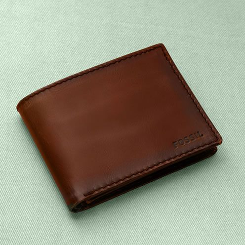 Men's Wallets | FOSSIL - nice, sturdy wallet that can last after rubbing against my butt for a few years.